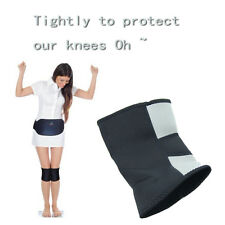 Black/Gray Knee Support Brace Neoprene Thermal Compression Therapy Health Sports