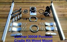 Lunmar 3000# Pontoon Cradle Kit Wood Mount