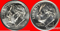 2003 P & D Roosevelt Dime Pair Choice/Gem Bu Set from mint sets