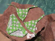 TOMMY HILFIGER BLING GREEN BEACH BIKINI NEW JUNIORS XS
