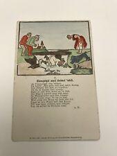 Antique Postcard; Eulenspiegel ward Dreimal Edoft Hand Colored; Dr. Trenkler