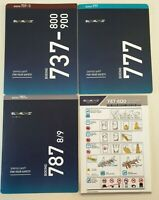 ELAL Airline Set of 4 Safety Cards Boeing  747-400 777-200 787-8/9 737-800/900