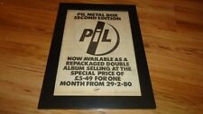 PIL metal box-1980 framed original poster sized advert