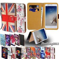 Leather Stand Flip Card Wallet Cover Case For Various Jiake Model Mobile + Strap