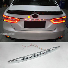 For Toyota Camry 2018-2020 LED Rear Door English Letter Lights w/ Brake Lights