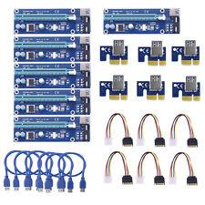 10x USB 3.0 PCI-E 1X-16X Extender Riser Karte Adapter Power Cable ETH BTC Mining