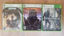 LOT 3 - XBOX 360 Games (Too Human, Crysis 2, Divinity 2) VGC Complete!