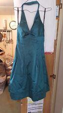VINTAGE ?WEDDING /BRIDESMAID DRESS SPOTLIGHT BY WAREHOUSE GREEN HALTER NECK S10