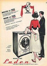 PUBLICITE ADVERTISING 015  1957  LADEN   lave linge machine à laver