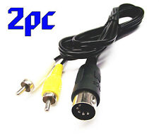 From OZ Quality 2PC Sega Mega Drive MK1 AV Cable Wire Lead Audio Video +FREEPOST