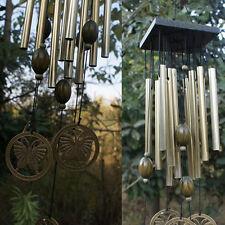 Windspiele Glocken Kupfer Holz 12xTubes Hof Garten Wanddekoration Figur