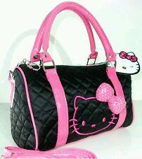 Borsa a Mano ragazza donna spalla Media HELLO KITTY nera rosa handbag women girl
