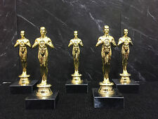 "6"" OSCAR STYLE AWARD x 5 Prom Party Presentation Trophy"