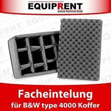 RPD Facheinteilung / Einlage / Einsatz für B&W type 4000 Koffer (EQV46)