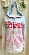 KATY PERRY TEENAGE DREAM Hoodie Jacket Coat Cotton Candy Pink Blue Medium Blouse