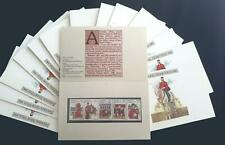 1980 AUSTRALIA NATIONAL STAMP WEEK PACK x 14 - ALL MINT & PERFECT - 22c strips