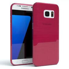 Schutz Hülle für Samsung Galaxy S7 Brushed Cover Handy Case Pink