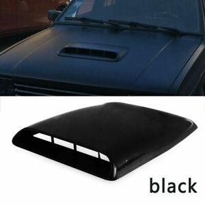 Black Car AUTO Air Flow Intake Hood Scoop Vent Bonnet Decorative Cover Universal