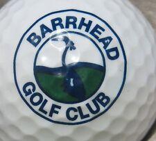 (1) Barrhead Golf Club Golf Course Logo Golf Ball
