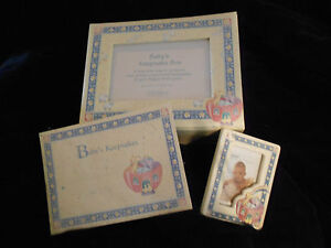 Noah's Ark Baby Photo Storage Box & Picture Frame by Gibson NEW *