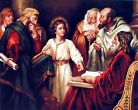 Young Jesus Christ With Elders Religious Christian Picture Art Print (8x10)