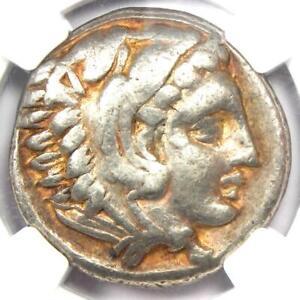 Alexander the Great III AR Tetradrachm Coin 336-323 BC Certified NGC Choice Fine