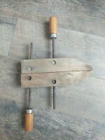 "Vintage Brink & Cotton USA 10"" Adjustable Wood Screw Clamp Woodworking Tools"
