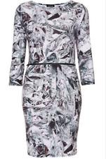 NEW Topshop Bodycon Half Sleeve Foil DIamond Print Sheath Dress US 6 EU 38 UK 10