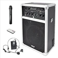 Portable Audio Wireless Pa Sound System Dual Karaoke Speaker Microphones Headset
