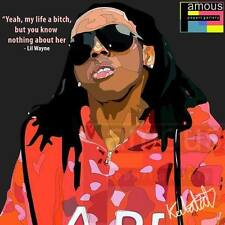 Lil Wayne canvas quotes wall decals photo painting framed pop art poster