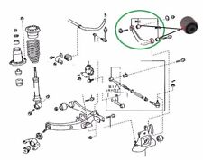 FOR TOYOTA AVENSIS 1.8i 2.0i 2.0TD 2.2TD REAR SWING LATERAL ARM BUSH SET 03-09