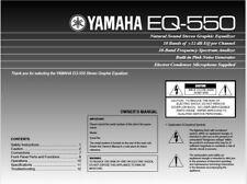 Yamaha EQ-550 Stereo Graphic Equalizer Operating Instruction EQ USER MANUAL