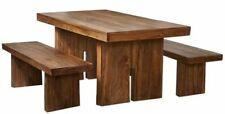 Wooden Dining Room 3 Piece Table & Chair Sets