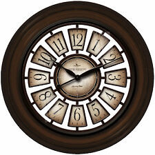 """Wall Clocks Large 29"""" Worn Weathered Crackled Style Design New Oversized Clock"""