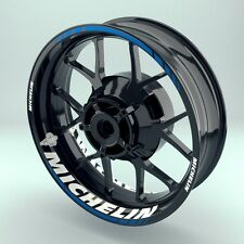 """Felgenaufkleber Felgenrandaufkleber Motorrad Wheelsticker """"Michelin""""  komplett"""