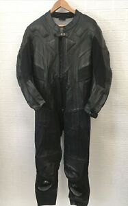 GB Leather Motorcycle Suit Black Size 44 One Piece Red Spyke Dust Cover Armour