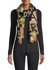 "NEW $850 BURBERRY Large Cashmere Silk Graffiti Print Wrap Neck Scarf 77""x39"" Tag"