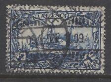 1906 German colonies KIAUTSCHOU  1 Dollar Yacht used, -TSINGTAU-, € 85.00