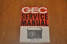 GEC G812 Portable Transistor Radio Vintage Service Manual