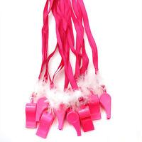 6 x Hen Night Party Pink Rosa Whistle Pink Lanyard Lady Women Having Fun pa K8R9