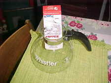 NEW The Whistler Glass Tea Kettle Coffee Pot Gemco U.S.A. 8 Cup no lid