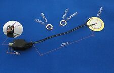 """35mm Piezo with 1/4"""" 6.3mm Jack - drum trigger for DIY electronic drum"""