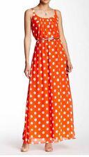 NWT $158 Eliza J Sleeveless Woven Dot Maxi Dress.SZ:4