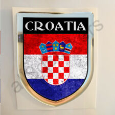 Croatia Sticker Resin Domed Stickers Flag Grunge 3D Adhesive Decal Gel Car Moto