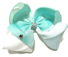 "Sale! 7"" Jojo Style Bow, MINT OMBRE 💟 BellaBow✨Jo Jo Dance Cheer"