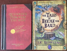 Lot Harry Potter Books Quidditch Through the Ages & The Tales of Beedle The Bard