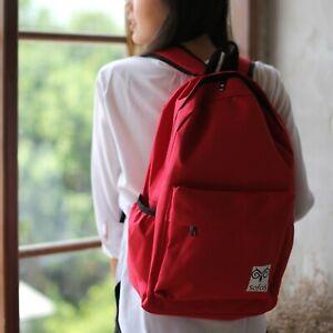 Red NYLON BACKPACK RUCKSACK University School Travel Gym Bag 769