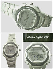 Sporty Q&Q MEN'S WATCH ANALOGUE & Digital with World Time & 5 Alarm -