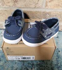 Sperry Intrepid Crib Jr Denim Sneaker Size 3 NEW