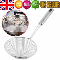 Mesh Net Strainer Stainless Steel Wire Skimmer Spoon Filter Ladle Kitchen 28cm